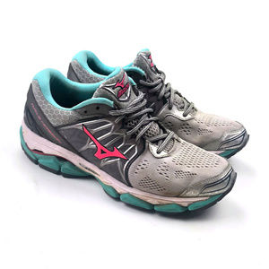 Mizuno Wave Horizon Womens Running Shoes Gray/Pink